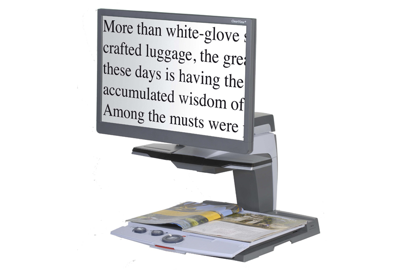 Optelec Clearview Easy Reading Products Magnified Vision
